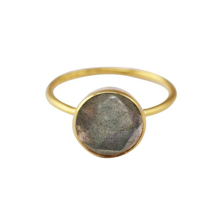 Ring Facetted Stone Round