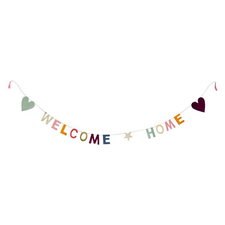 Papiergirlande Welcome Home