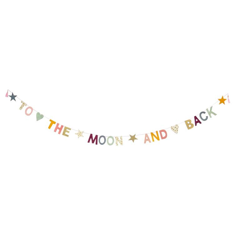 Papiergirlande To The Moon And Back