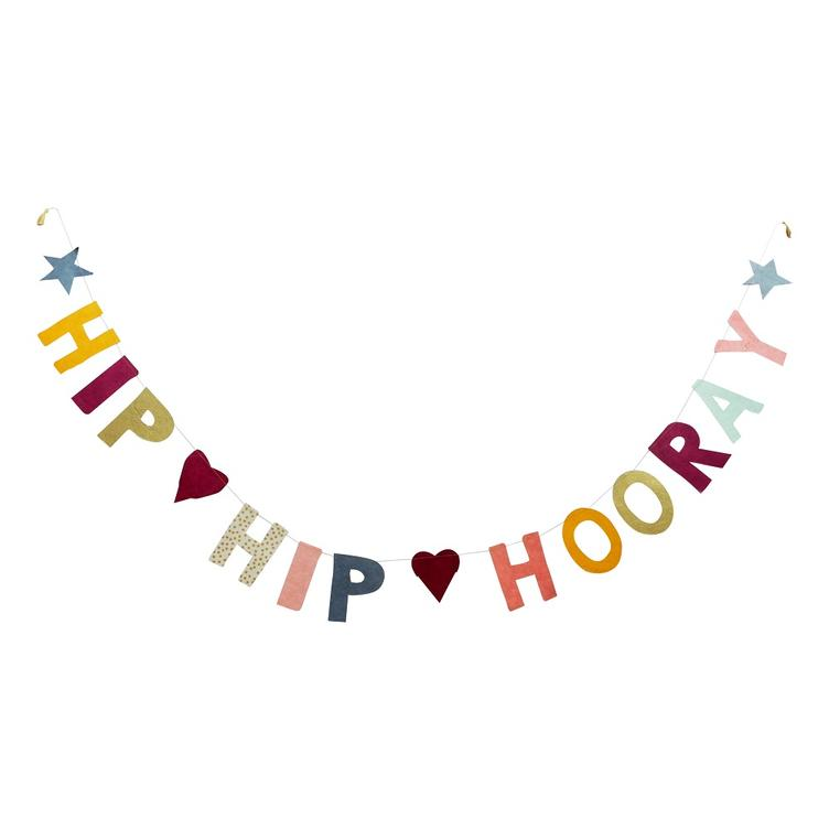 Papiergirlande XL Hip Hip Hooray