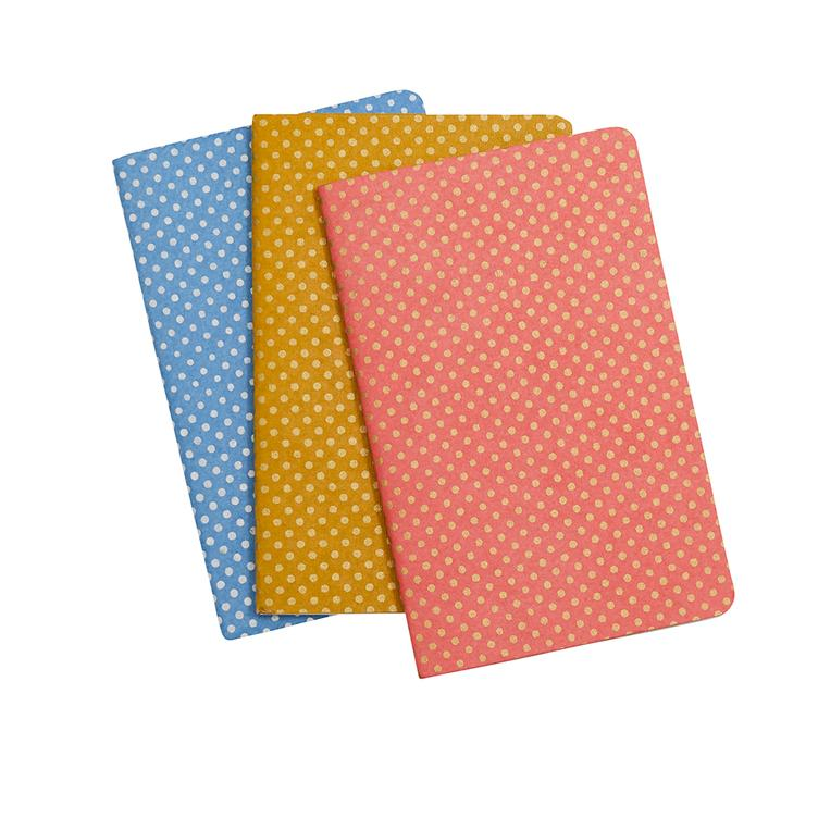Notizbuch Dots, 3er Set